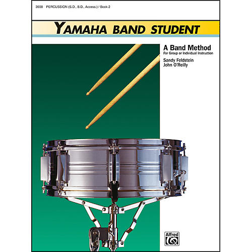 Alfred Yamaha Band Student Book 2 PercussionSnare Drum Bass Drum & Accessories-thumbnail