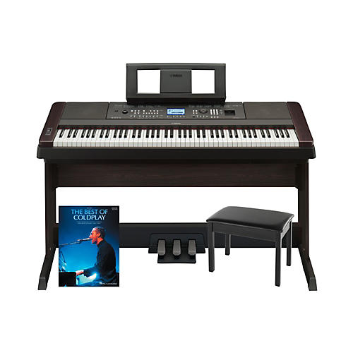 Yamaha Yamaha DGX-650 Platinum Bundle with Bench & Songbook