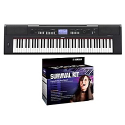 Yamaha NPV60 76-Key Piaggero Portable Digital Piano with Yamaha D2 Survival Kit
