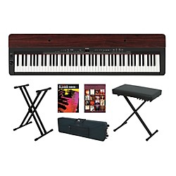 Yamaha P-155 Rosewood Keyboard Package 4