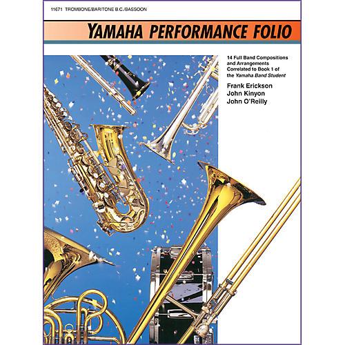 Alfred Yamaha Performance Folio Trombone (Baritone B.C./Bassoon)
