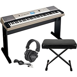 Yamaha YPG-535 88-Key Portable Grand Piano Keyboard w/ Bench and Headphones