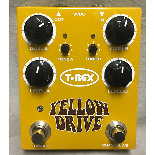 T-Rex Engineering Yellow Drive Distortion Effect Pedal