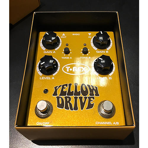 T-Rex Engineering Yellow Drive Distortion Effect Pedal-thumbnail