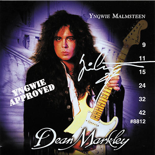 Dean Markley Yngwie Approved Ball End Nickel Steel Extra Light 9-42 Electric Guitar Strings