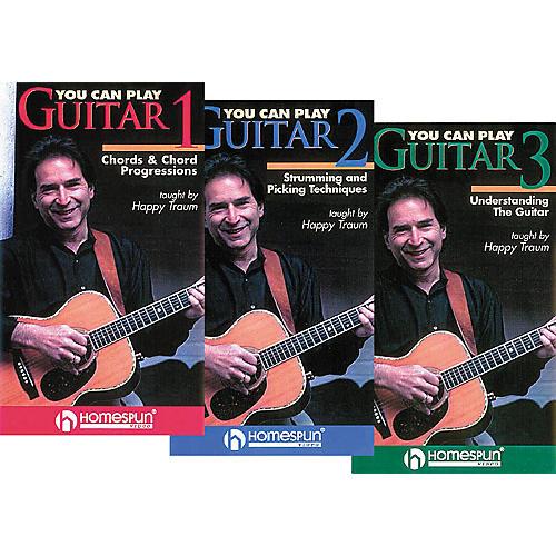 Homespun You Can Play Guitar 3-Video Set (VHS)-thumbnail