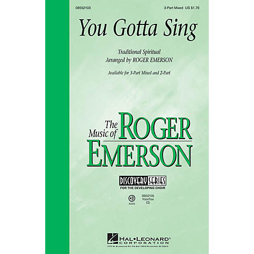 Hal Leonard You Gotta Sing (Discovery Level 1) VoiceTrax CD Arranged by Roger Emerson