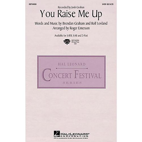 Hal Leonard You Raise Me Up SATB by Josh Groban arranged by Roger Emerson
