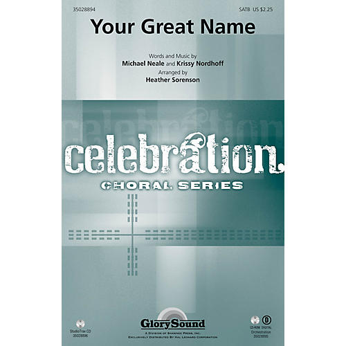 Shawnee Press Your Great Name Studiotrax CD Arranged by Heather Sorenson