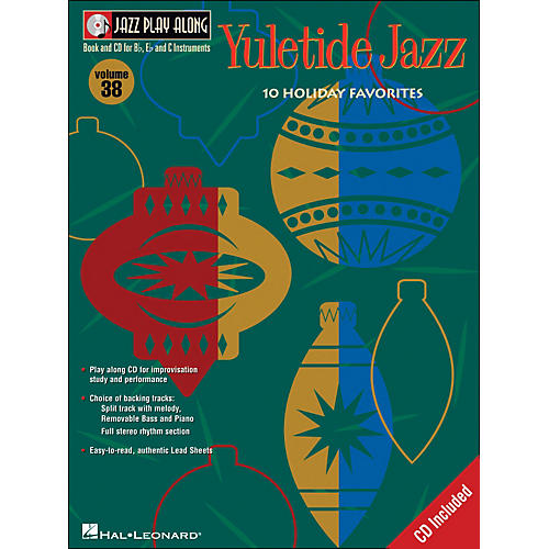 Hal Leonard Yuletide Jazz Volume 38 Book/CD Jazz Play Along