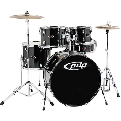 PDP by DW Z5 Complete Drum Set with Hardware and Cymbals Carbon Black-thumbnail