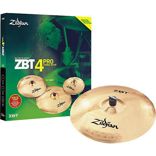 Zildjian ZBT Pro Cymbal 4-Pack with Free 18