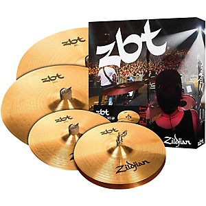 Zildjian ZBT Pro Cymbal Set with Free 14 inch ZBT Crash