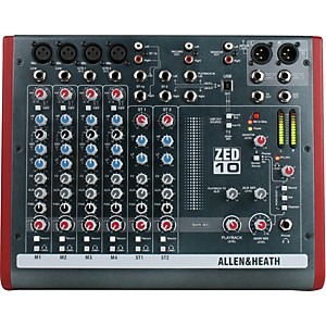 Allen and Heath ZED-10 10-Channel USB Mixer by Allen & Heath