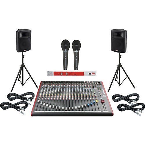 Allen & Heath ZED-22FX / Harbinger APS15 PA System with BBE 382i