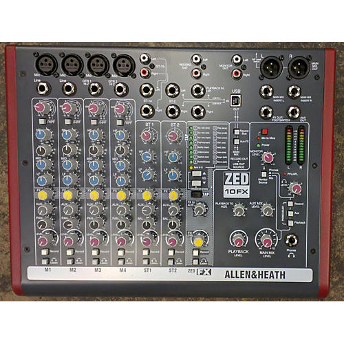 Allen & Heath ZED10FX Unpowered Mixer-thumbnail