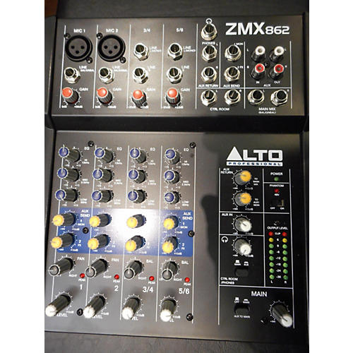 Alto ZMX862 6-Channel Unpowered Mixer