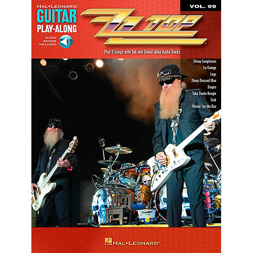 Hal Leonard ZZ Top Guitar Play-Along Volume 99 Book/CD
