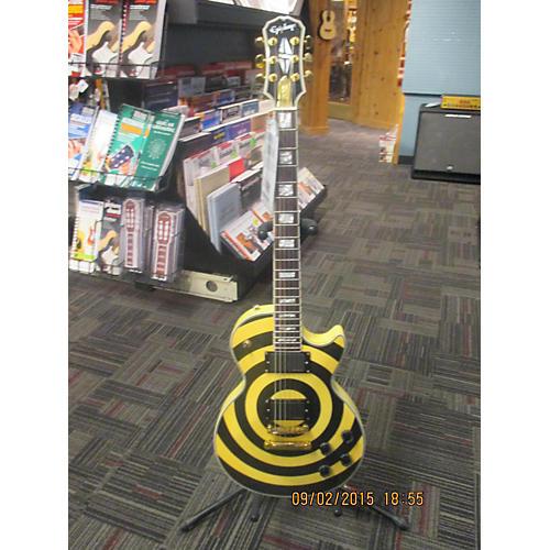Epiphone Zakk Wylde Bullseye Les Paul Custom Plus Aged White Bullseye Solid Body Electric Guitar