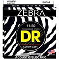 DR Strings Zebra Medium Lite Acoustic-Electric Guitar Strings thumbnail