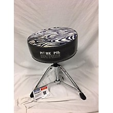 Pork Pie Zebra Stripe Throne Drum Throne