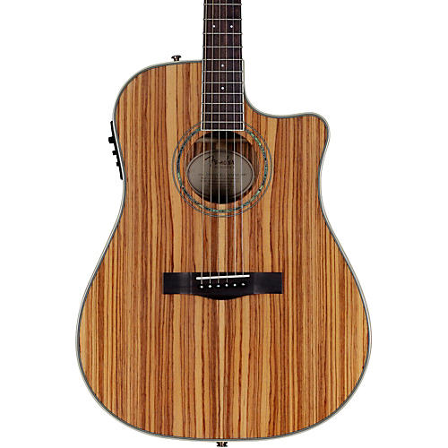 Fender Zebrano Acoustic-Electric Guitar Natural