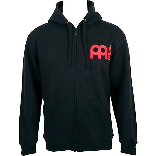 Meinl Zipper Hoodie with Skull Logo on Back Large Black