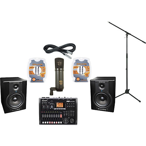 M-Audio Zoom R8 and M-Audio BX5a Recording Package