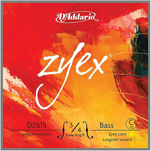 D'Addario Zyex Series Double Bass Low C (Extended E) String-thumbnail
