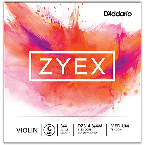 D'Addario Zyex Series Violin G String 3/4 Size