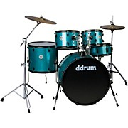 d2 Player 5-Piece with Hardware and Cymbals Blue Sparkle