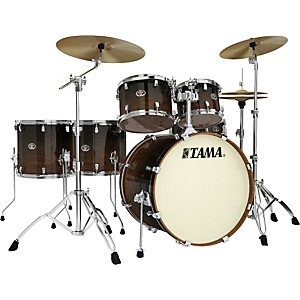 Tama-Silverstar-Lacquer-6-Piece-Accel-Driver-Shell-Pack-Dark-Mocha-Fade