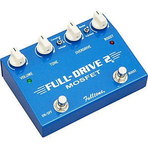 Fulltone-Fulldrive2-MOSFET-Overdrive-Clean-Boost-Guitar-Effects-Pedal-Blue