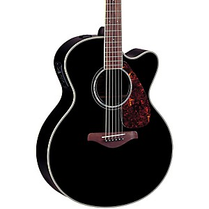 Yamaha-FJX730SC-Solid-Spruce-Top-Rosewood-Acoustic-Electric-Guitar-Black