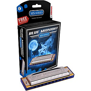 Hohner-595BL-Blue-Midnight-Harmonica-Key-of-F