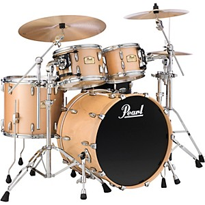 Pearl-Session-Studio-Classic-4-Piece-Shell-Pack-with-Free-14-Inch-Floor-Tom-Lacquer-Platinum-Mist-with-Chrome-Hardware