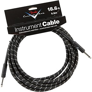 Fender-Custom-Shop-Performance-Series-Instrument-Cable-Black-Tweed-18-6-Foot