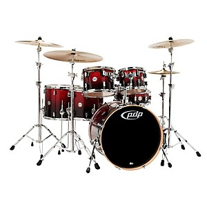 PDP-Concept-Maple-by-DW-6-Piece-Shell-Pack-Red-to-Black-Fade
