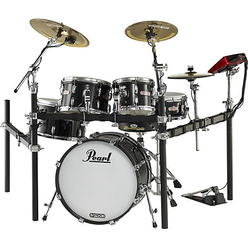 Pearl e-Pro Live Electronic Drumset with E-Classic Cymbals Black