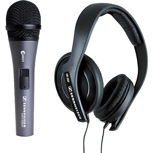 Sennheiser e822s with HD202 Headphones-thumbnail