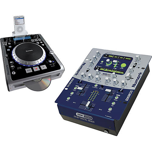 Numark iCDXCD/MP3 Player/DMX06 DJ Mixer Package-thumbnail