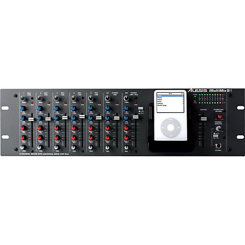 Alesis iMultiMix 9R Rackmount Mixer with iPod Dock