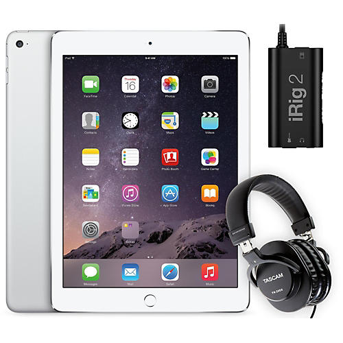Apple iPad Air 2 128GB Silver with iRig 2 and TH-200X Headphones-thumbnail