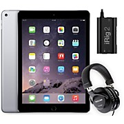 Apple iPad Air 2 MGKL2LL/A with iRig 2 and TH-200X Headphones