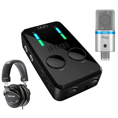 IK Multimedia iRig Studio Bundle with TH-300X Headphones-thumbnail