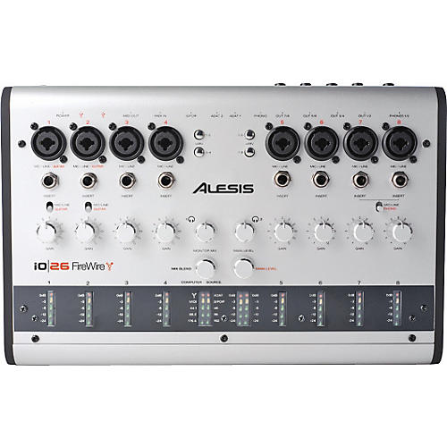 Alesis io 26 Audio MIDI 24-bit 192kHz FireWire Interface