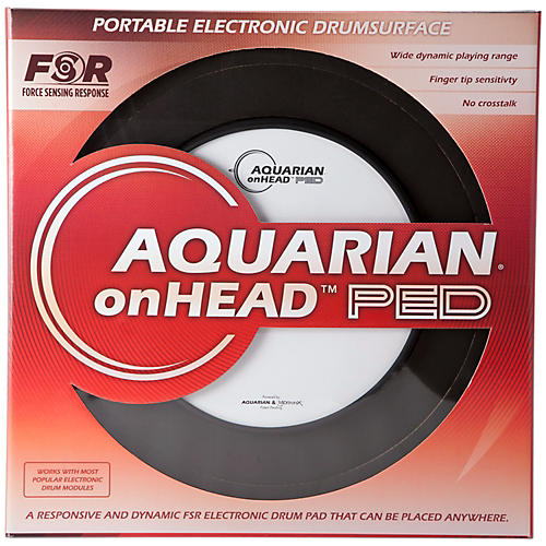 Aquarian onHEAD Portable Electronic Drumsurface Bundle Pak 10 in.