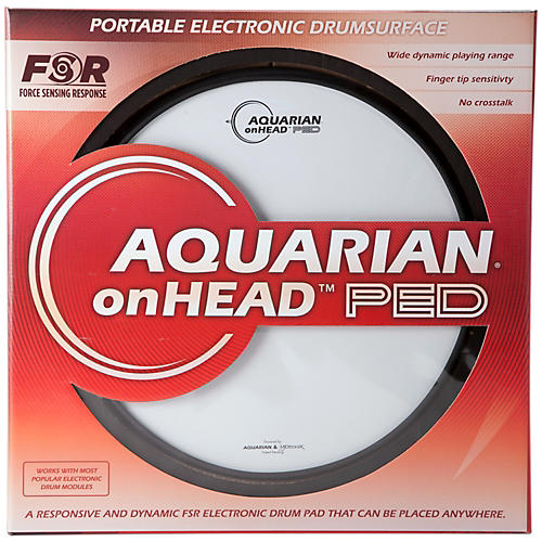 Aquarian onHEAD Portable Electronic Drumsurface Bundle Pak 12 in.