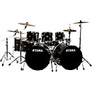 tAMA Imperialstar 8-Piece Double Bass Drum Set with Meinl HCS Cymbals (IP82CBK Kit)