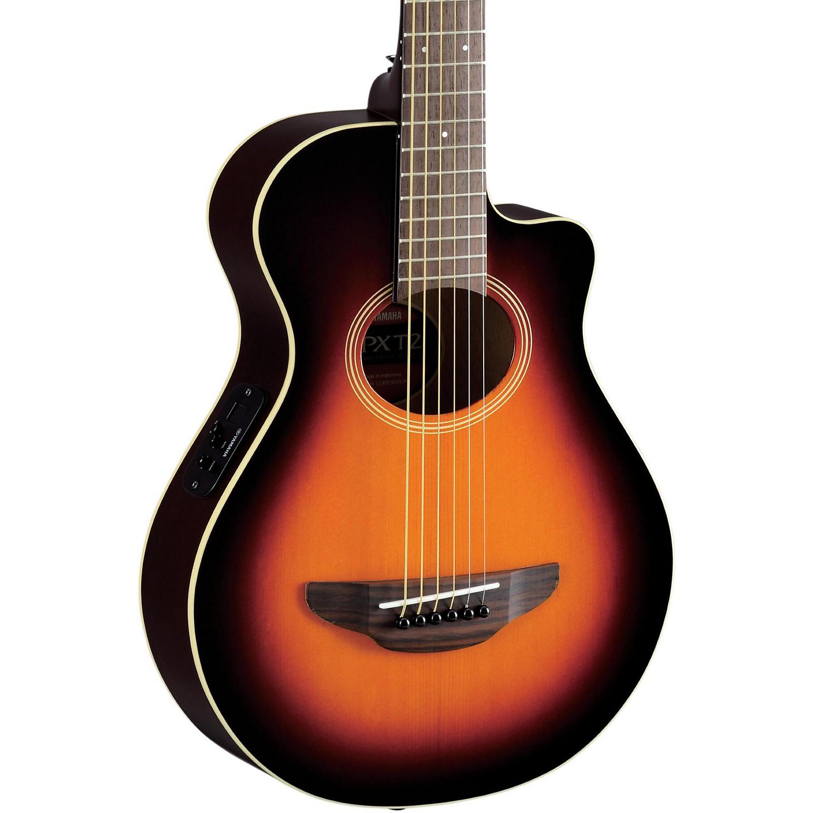 Yamaha Apxt2 3 4 Thinline Acoustic Electric Cutaway Guitar Old Violin Sunburst Guitar Center